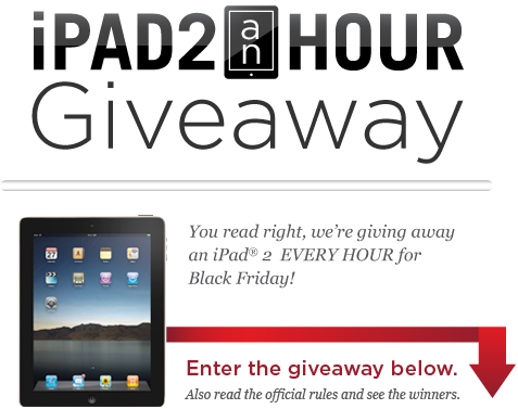 iPad 2 an Hour Giveaway